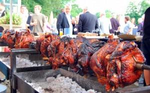 Porchetta spit pig roast bbq Toronto
